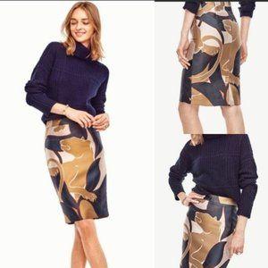 Ann Taylor Pencil Skirt Cougar Metallic Midi